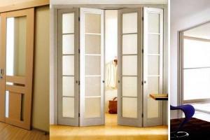 Розсувні міжкімнатні двері: варіанти конструктивного виконання і дизайну
