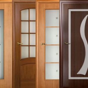 Дерев'яні двері зі склом>