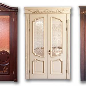 Двері з натурального дерева>