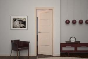 Двери из белого дуба в интерьере