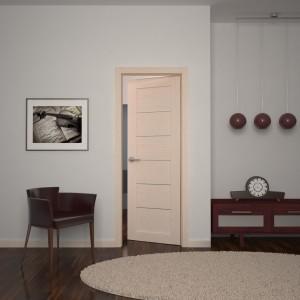Двері з білого дуба в інтер'єрі>