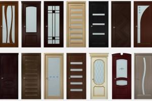 Двери из дуба со стеклянными вставками