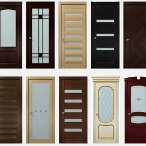 Двери из дуба со стеклянными вставками>