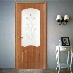 Двері з золотистого дуба в інтер'єрі>