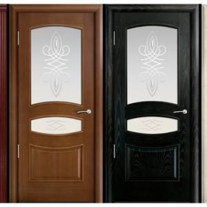Міжкімнатні двері зі склом>